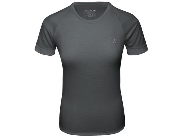 Schöffel Merino Sport T-Shirt Manches 1/2 Femme, pirate black